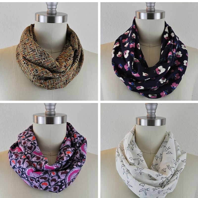 Day 3 Handmade Holiday Gifts: Infinity scarves made up in four ...