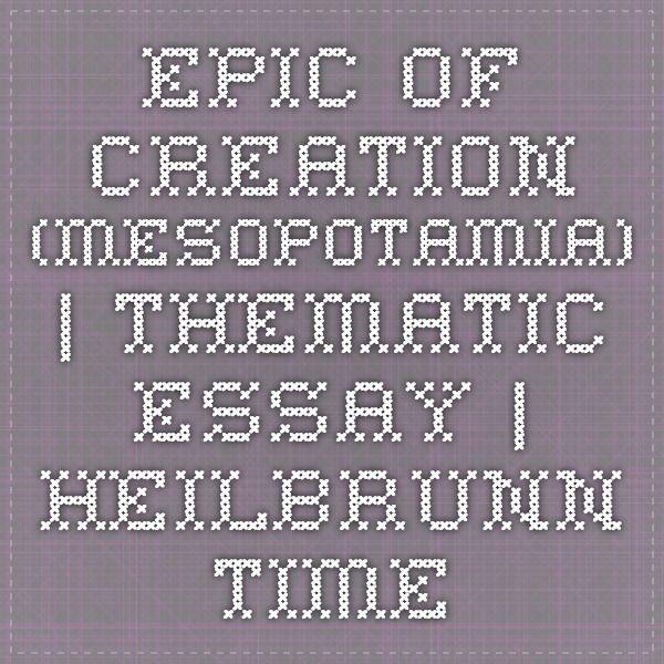Pin On Western Civilization Creation Myth Essay Idea Example Argument