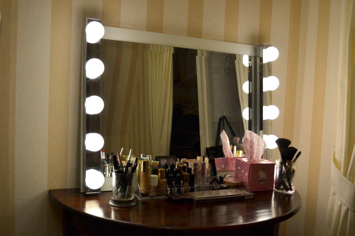 spiegel mit lampen selber machen