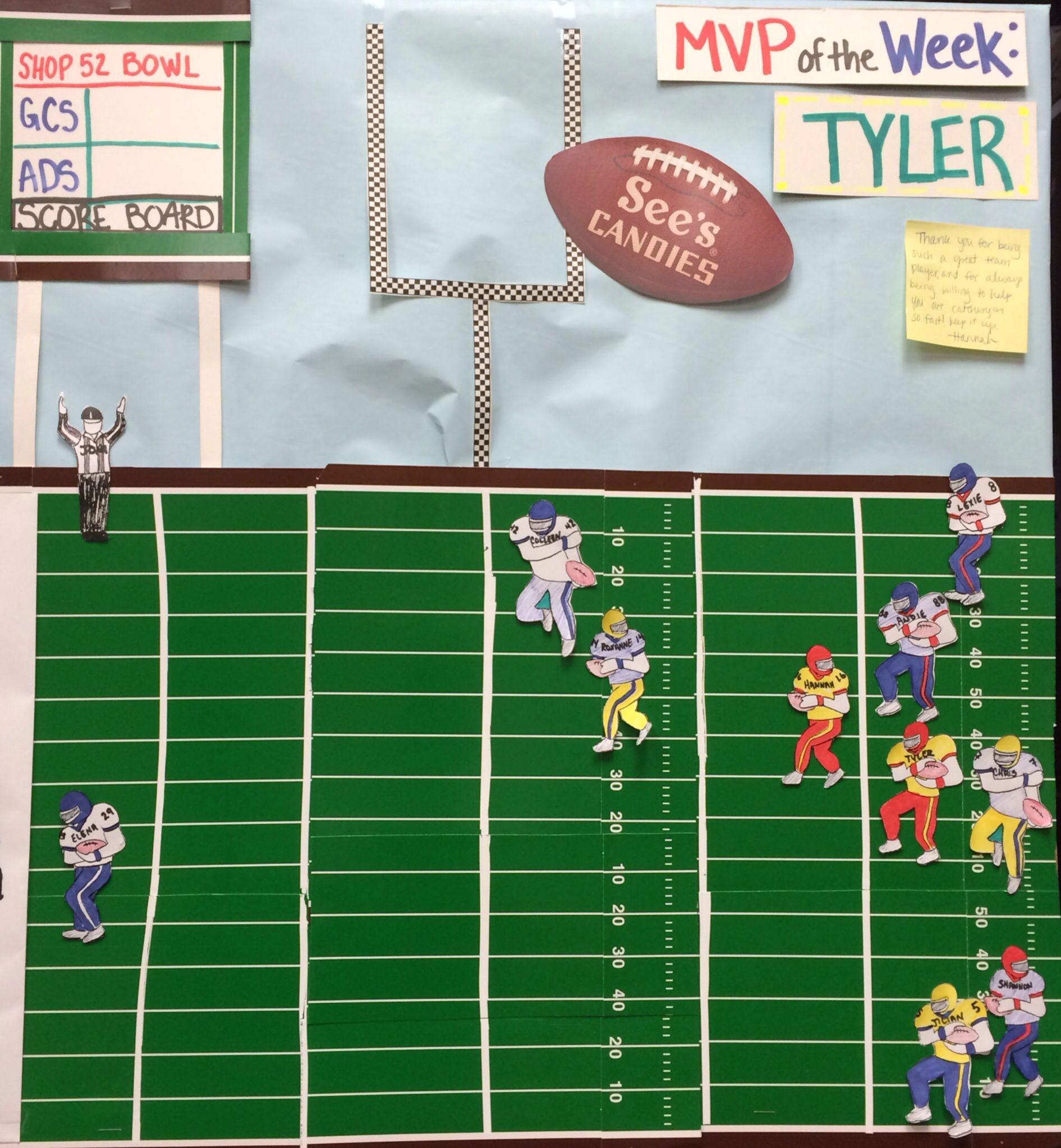 football sales board