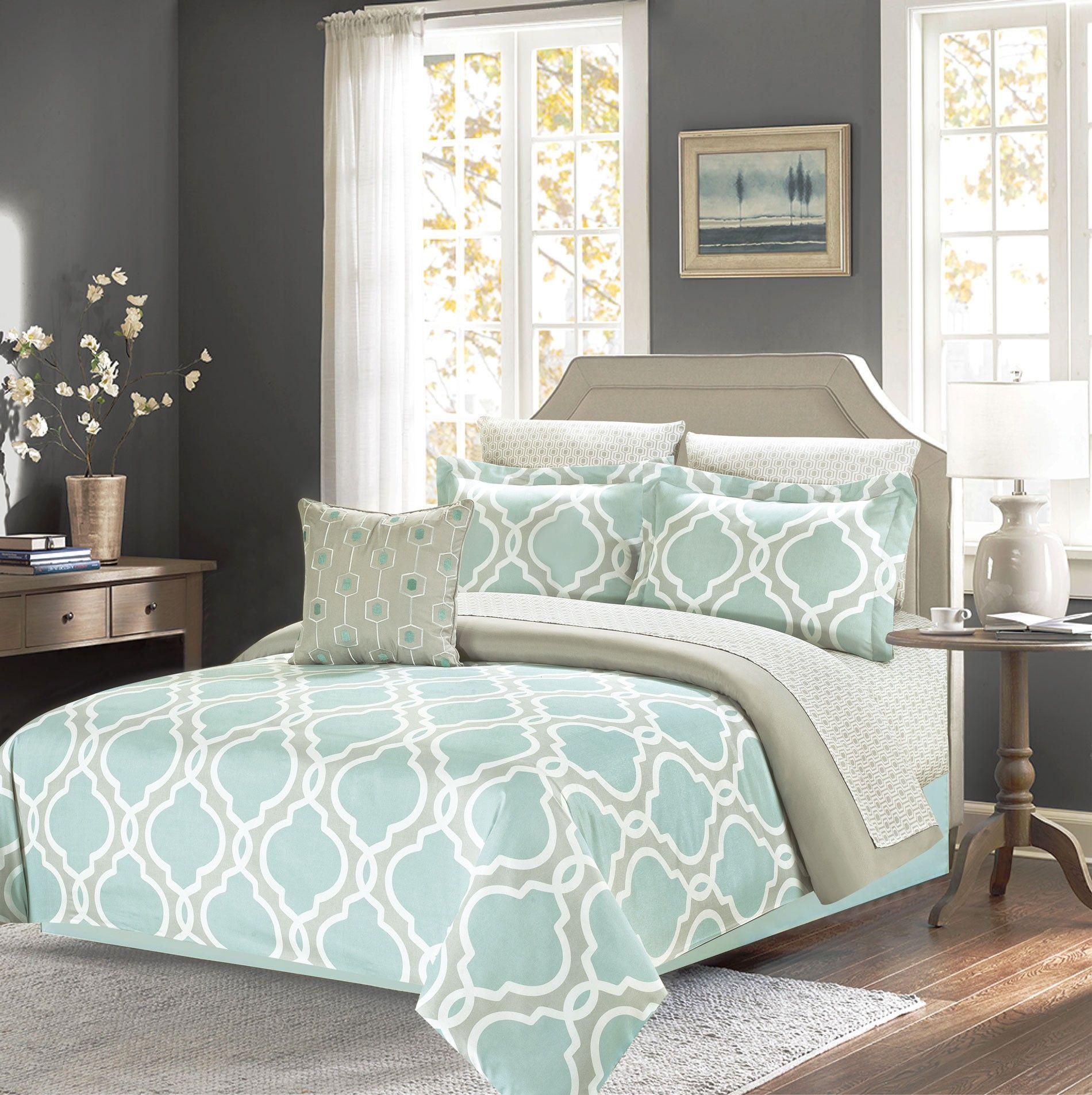 Best Crest Home Ellen Westbury Queen Comforter Bedding Set With 640 x 480