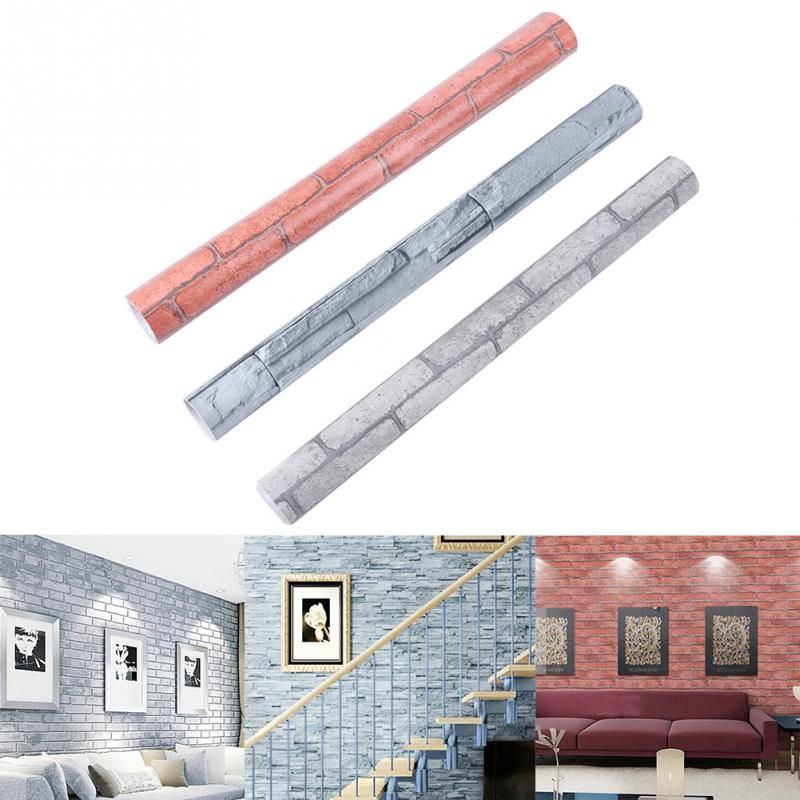 (Buy here: http://appdeal.ru/q8z ) Newest Brick Stone Pattern Vinyl Self Adhesive Wallpaper Roll Peel Stick Contact Paper for just US $41.00