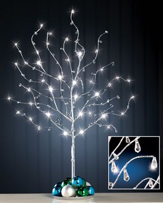 Silver Sparkling Lighted Holiday Gem Tree Indoor Christmas Decor