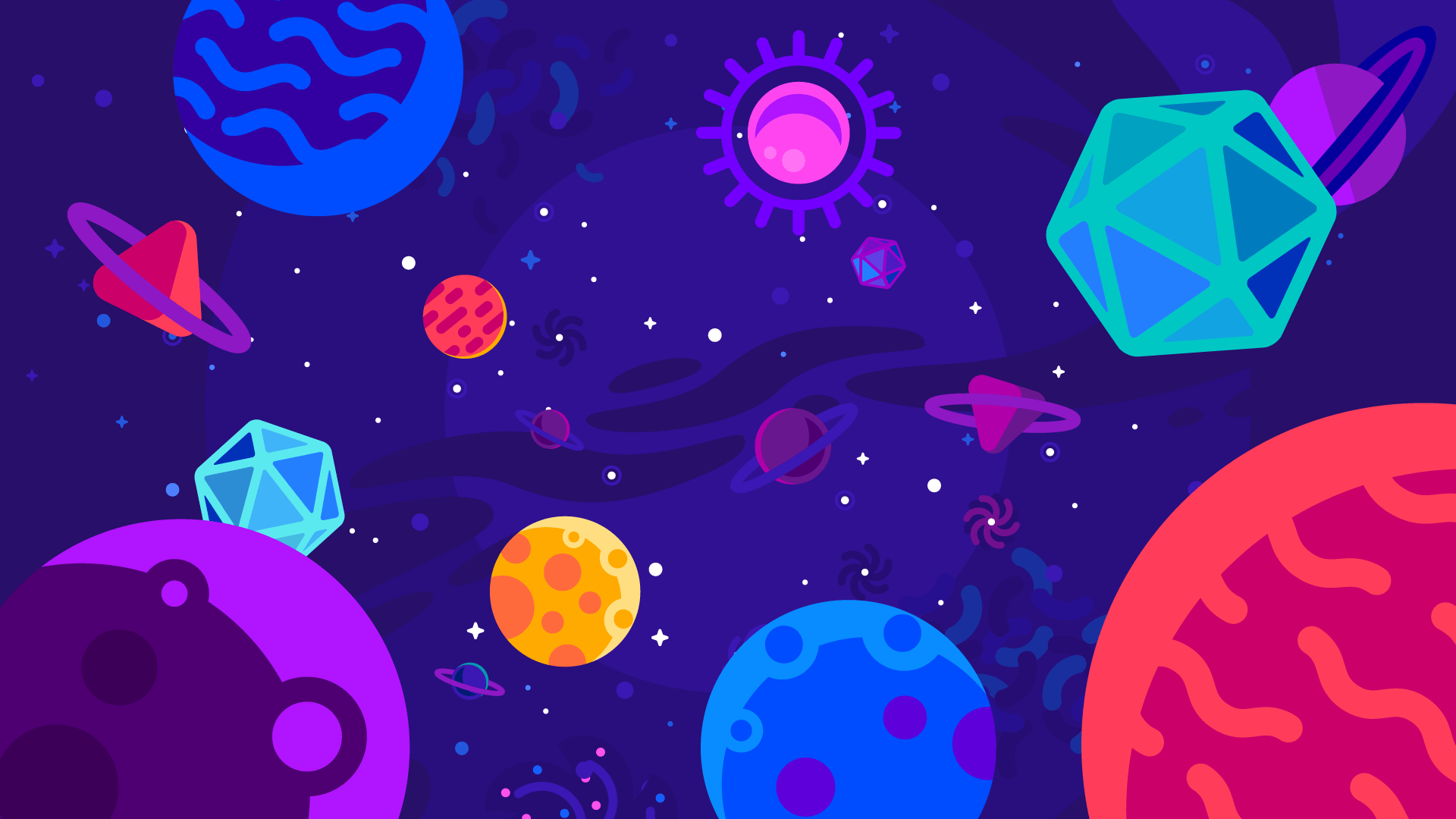 Colorful Universe Kurzgesagt Style 1920x1080 Cute Computer