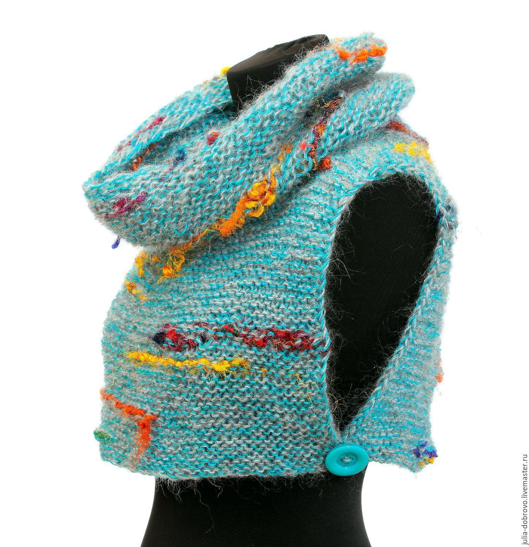 схема вязания шарф-воротник или мини-снуд