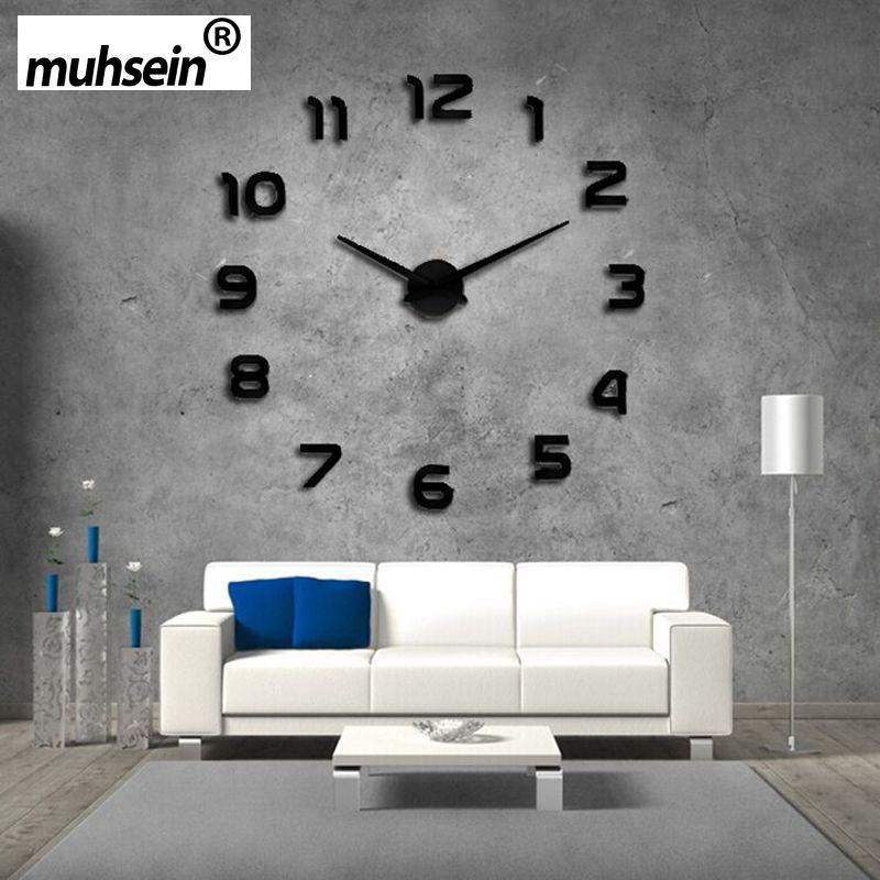 Marvelous 2016 Neue Uhr Wanduhren Horloge 3d Diy Acryl Spiegel Aufkleber Dekoration  Wohnzimmer Quarz Nadel Kostenloser Versand Good Ideas