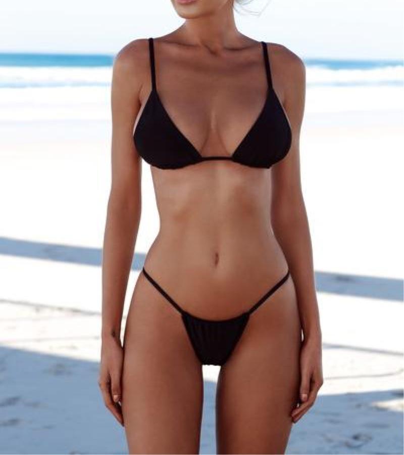 fdec9518c76 Micro Bikini 2018 Swimwear Women Bandage Sexy White Thong Brazilian Bikinis