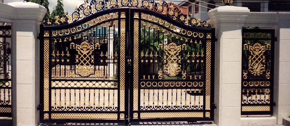Wrought Iron Gates With Logo Google Search With Images House