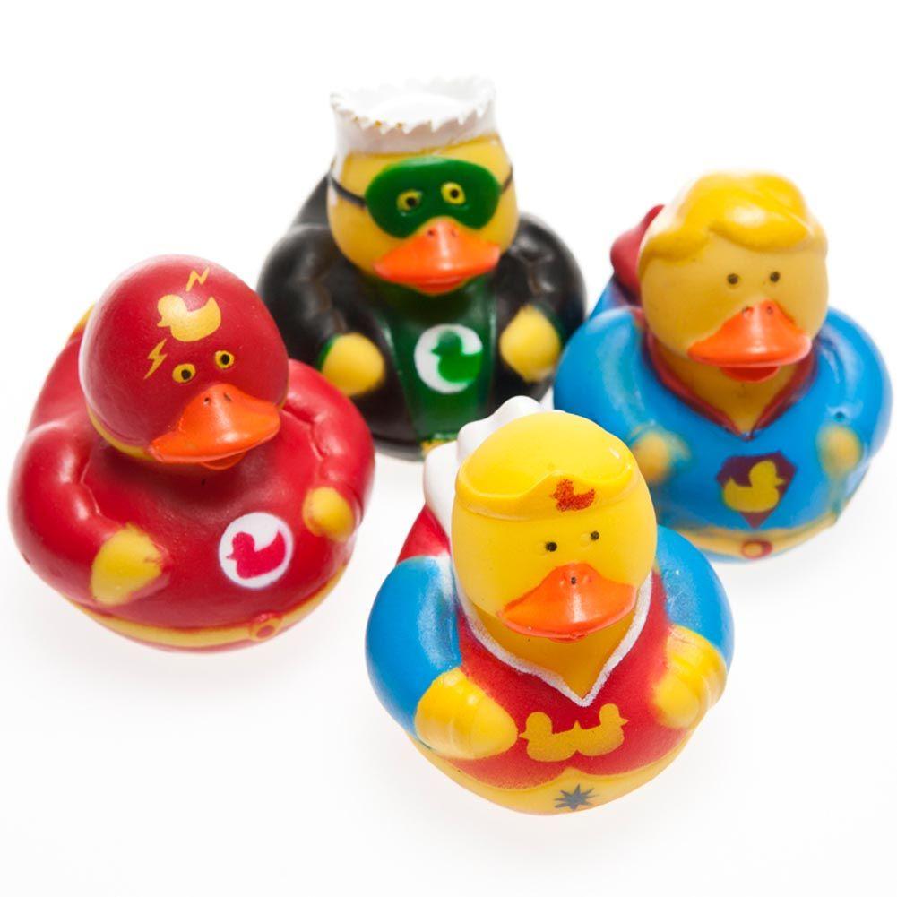 1 x Super Hero Rubber Duck Duckies Party Favors Bath Time Fun Children