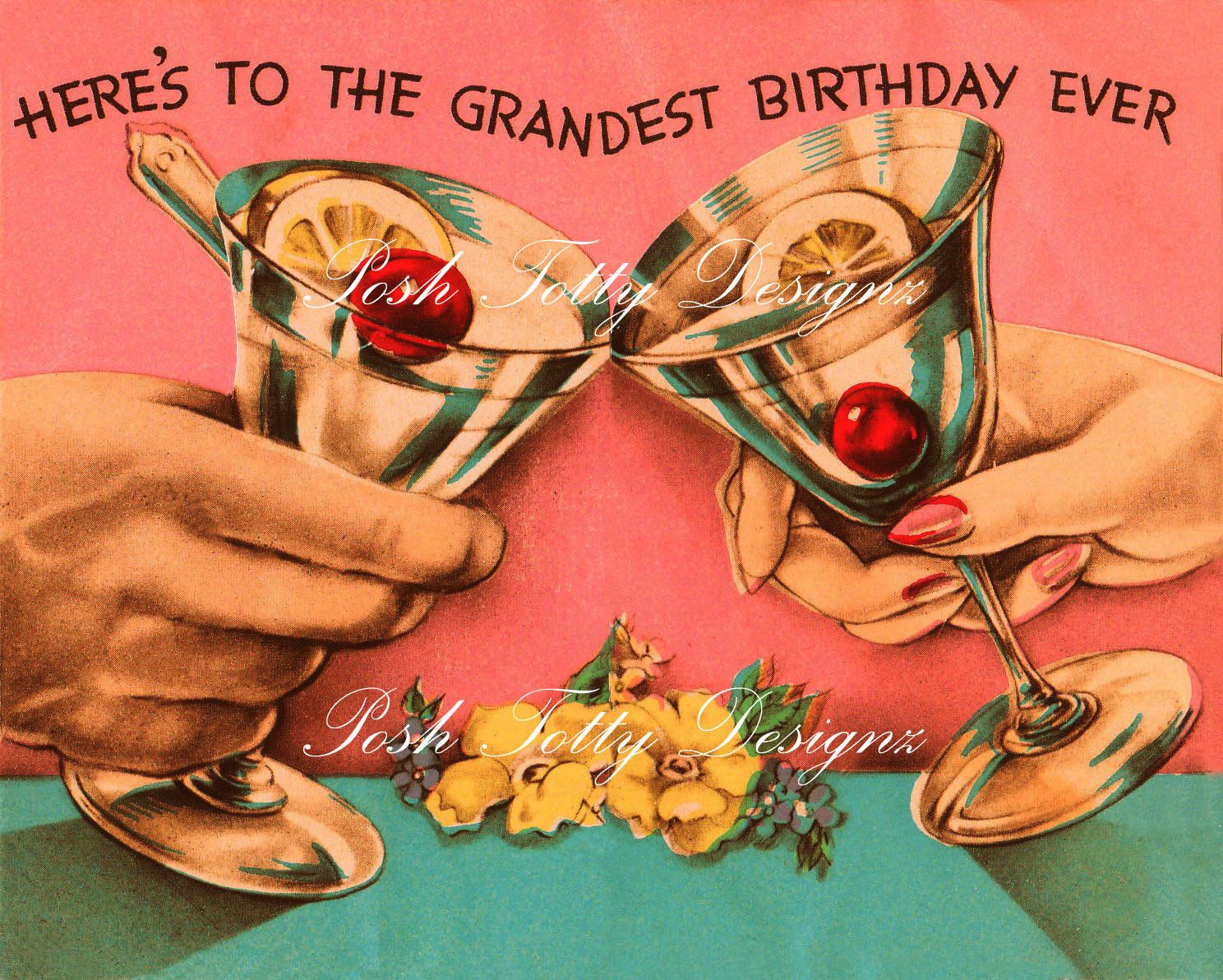 birthday card retro Google zoeken – Vintage Birthday Cards for Men