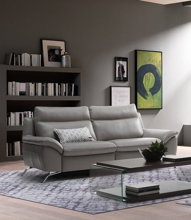 Tufted Sofa Natuzzi Editions Orlando Sofa with Two Recliners