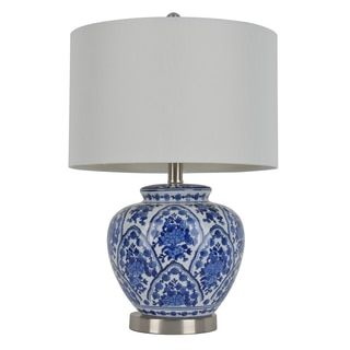 20-inch Blue and White Ceramic Table Lamp | Ceramic table lamps ...