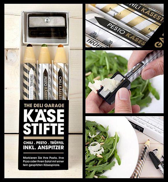 Cheese pencil: cute idea.