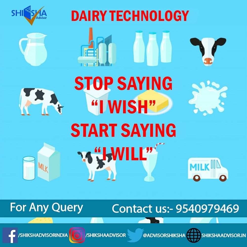 Career In Dairy Technology New Age Career Technology Biochemistry Use Of Technology