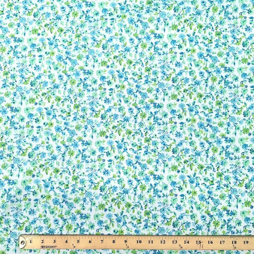 Blossom Blue Print Broadcloth