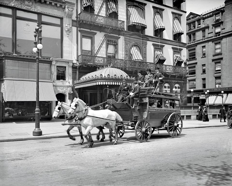 Fifth Ave. Stagecoach, c.1900