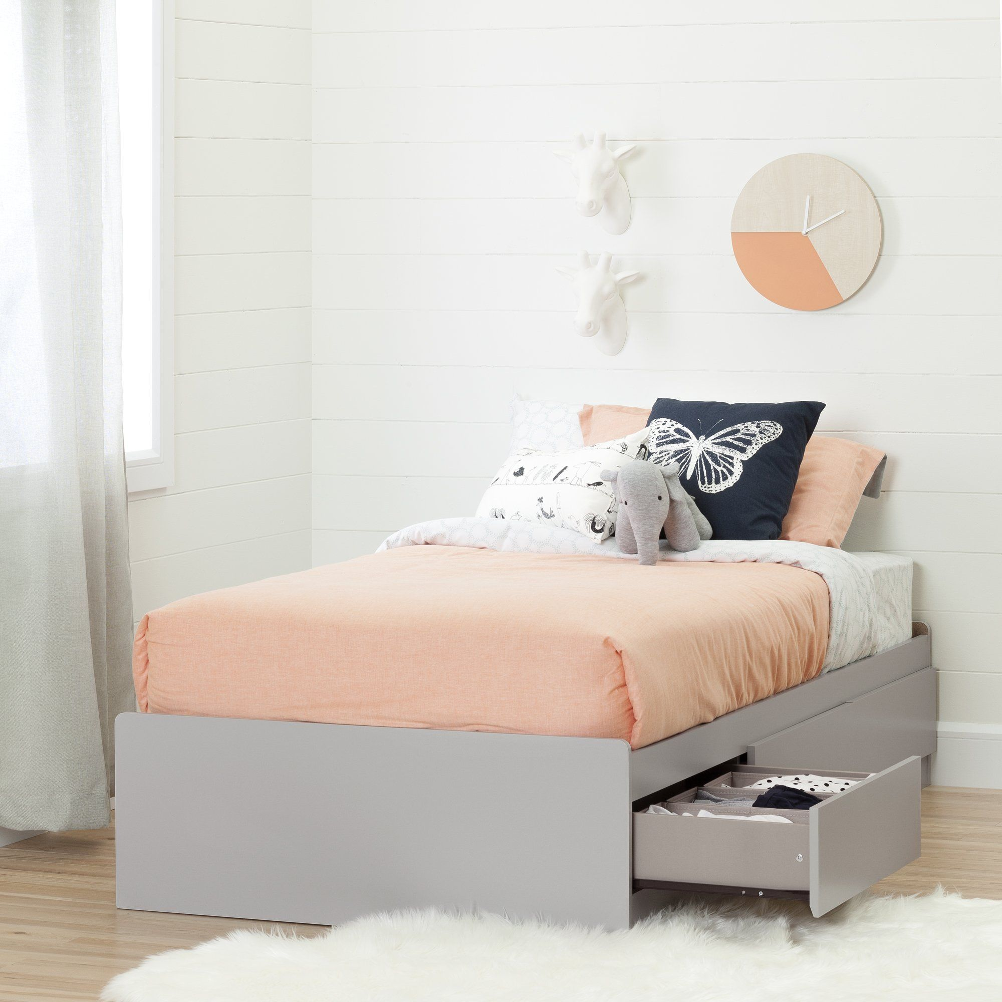 Cookie Twin Size Mate's and Captain's Bed with Drawers