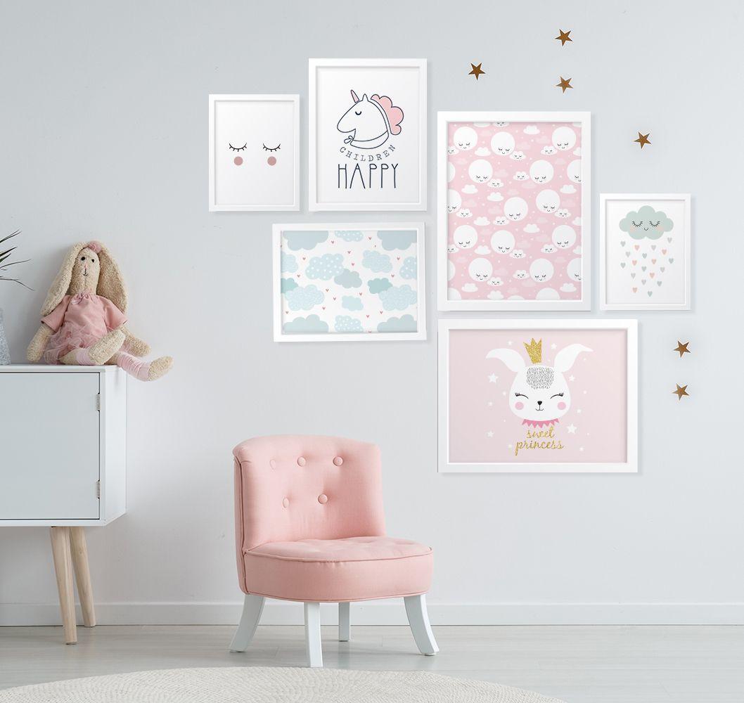 Compose De Quadros Decorativos Para Quarto De Menina Unic Rnio  ~ Como Fazer Quadros Decorativos Para Quarto De Bebe