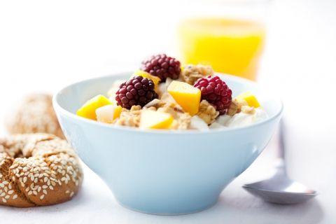 Kéfir con muesli y cereales