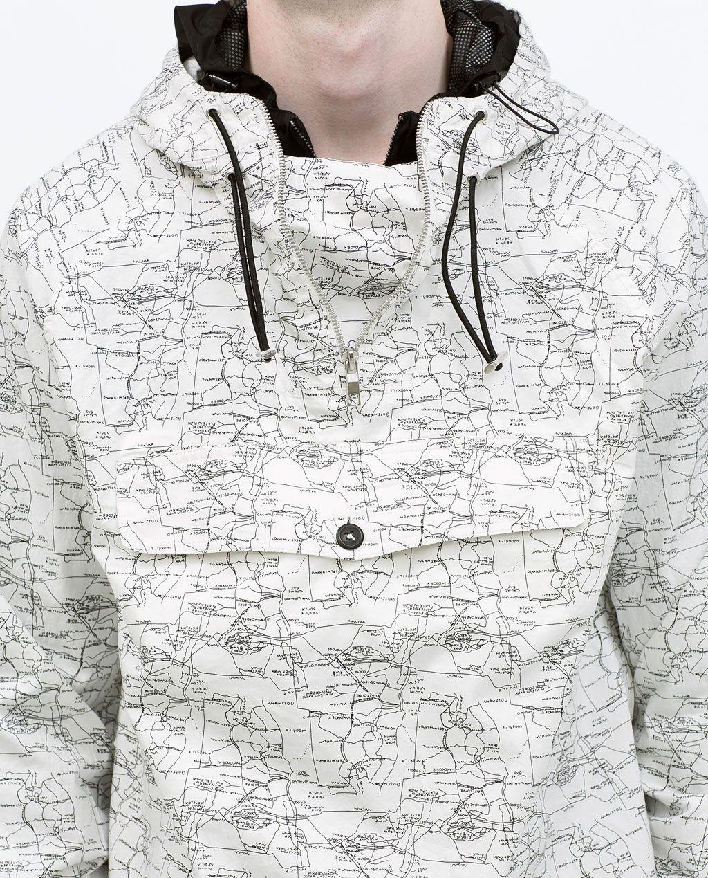 89071e88f5 Zara Printed Shirt With Pouch Pocket