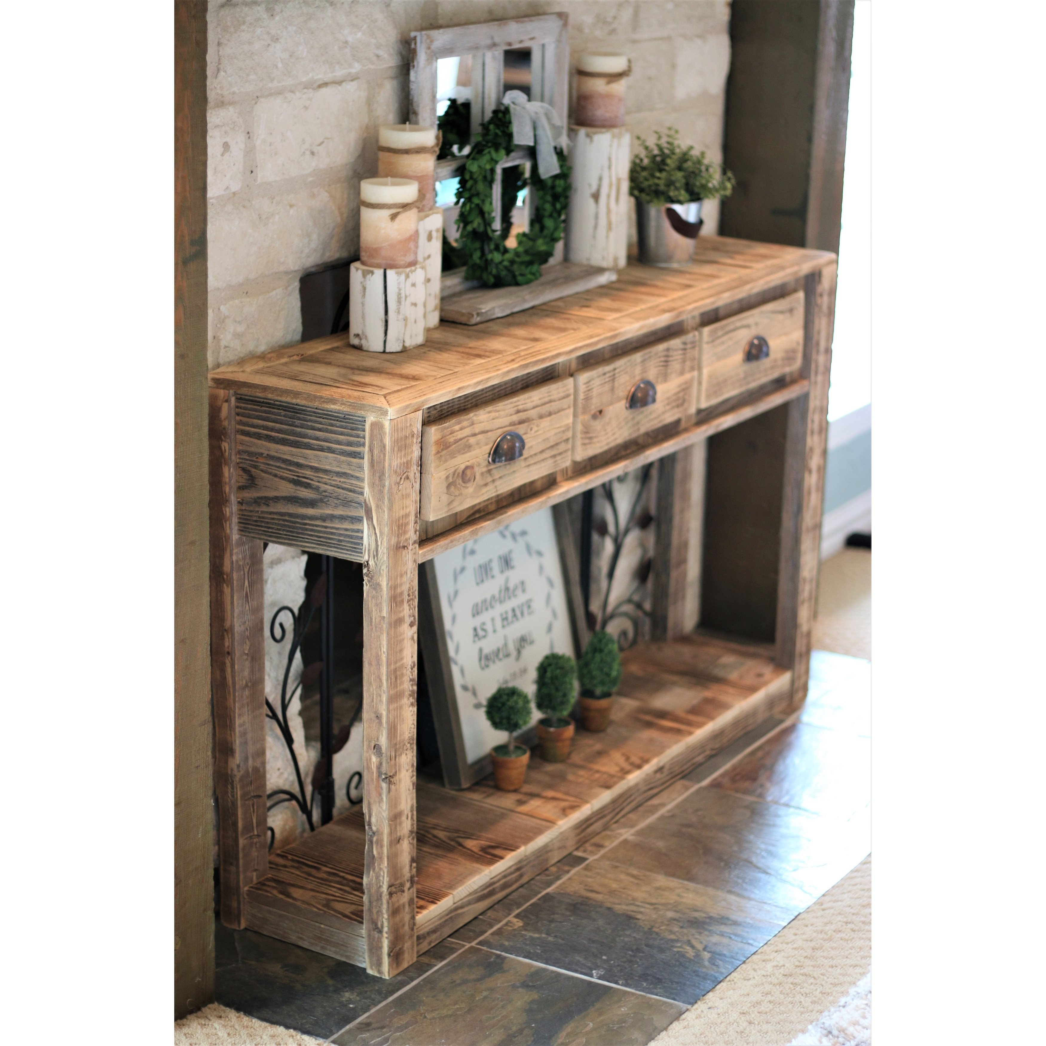 22+ Farmhouse console table with drawers ideas