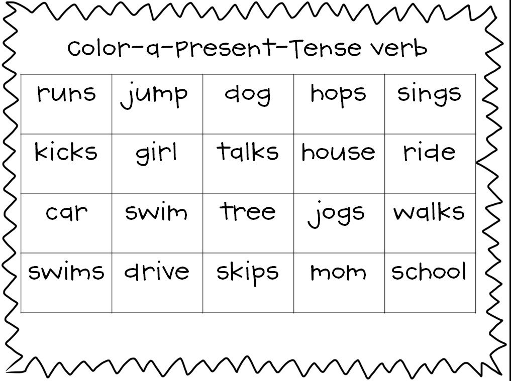 Resultado de imagen para assignment present grammar coloring