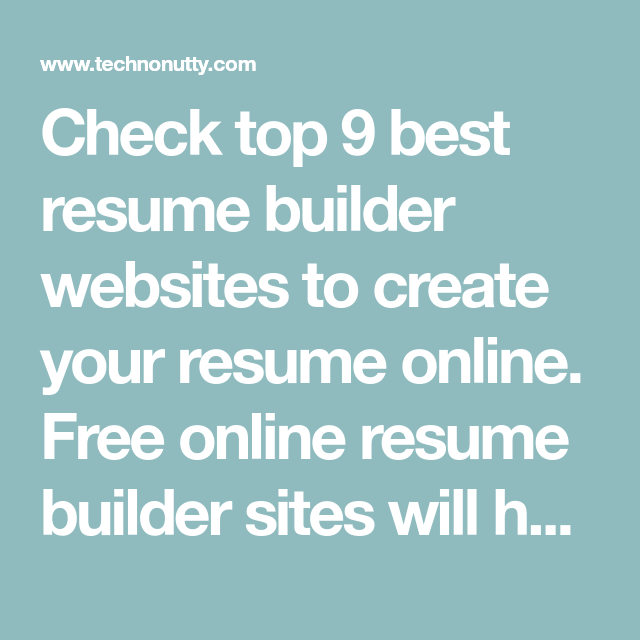check top 9 best resume builder websites to create your resume