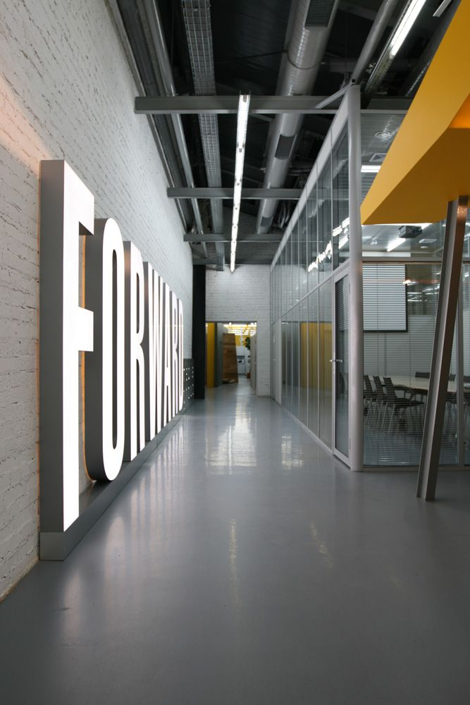 Contemporary corridors in historic buildings google for Industrial office interior