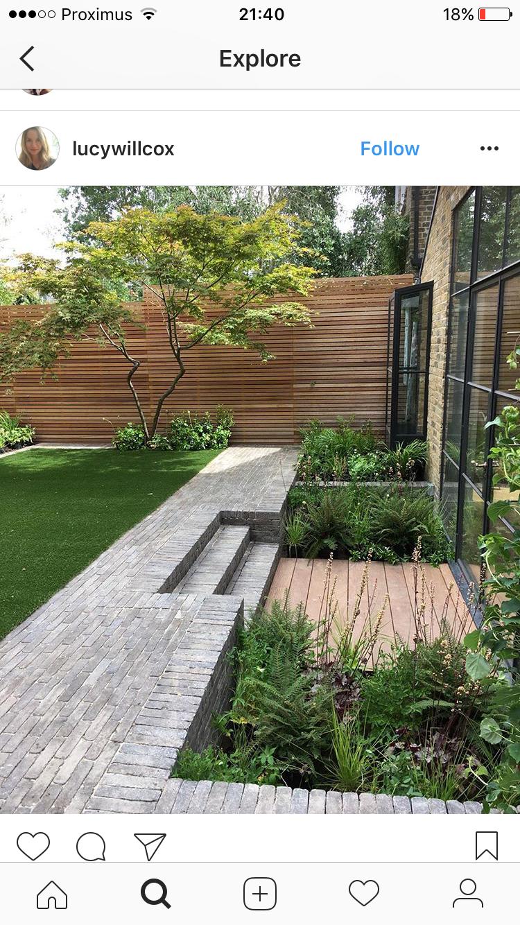 Pin van mark op moderne tuinen pinterest jardins for Trap ontwerpen