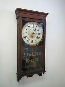 Antique Wall Clock Authentic Original Jeweler Advertising Mercantile Circa 1910 Advertising Clocks Antique Wall Clock Clock