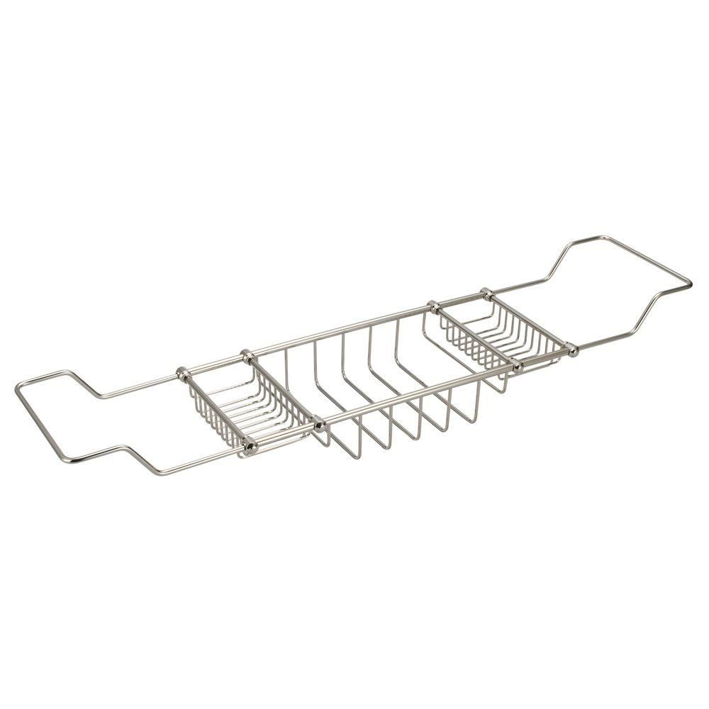 Photo of Water Creation Expandable Shower Caddy in Triple Plated Chrome-BC-0001-01 – The Home Depot