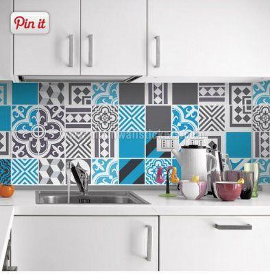 Vinilo decorativo azulejos interiores molones - Azulejos adhesivos bano ...
