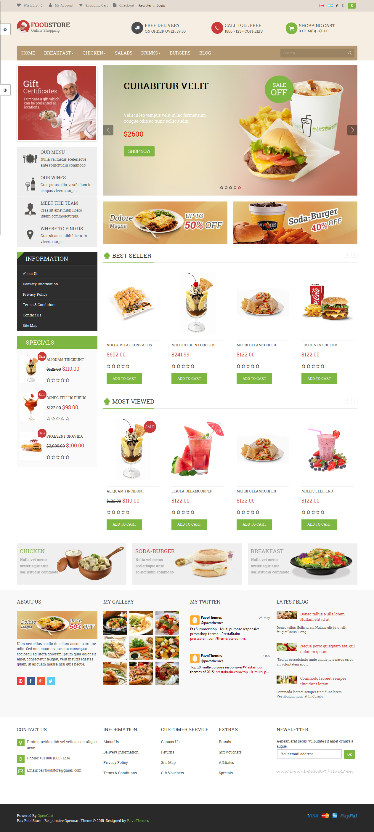 Pav Food Store is a Responsive Opencart Template suitable for any kind of #restaurant, hotel, café, coffee shop, spa and all kinds of food business that needs a feature rich and beautiful presence online. #website