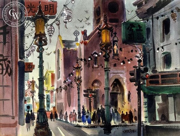 Biography: Jade Fon (1911-1983) Born: San Jose, CA; Studied: University of Arizona, Art Students League (Los Angeles); Member: American Watercolor Society, California Water Color Society. Jade Fon grew up in Winslow, Arizona. During the 1930s, he moved to Los Angeles where he continued his education at the Art Students League and.