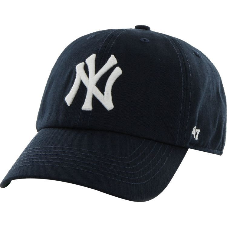 New York Yankees  47 Brand Navy Blue The Franchise 2 Fitted Hat ... bb887b3cad22