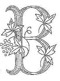 A variety of B monogram patterns.