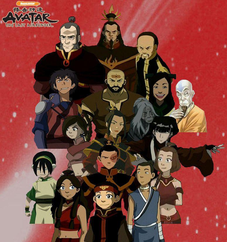 Team Avatar: Avatar The Last Airbender Characters