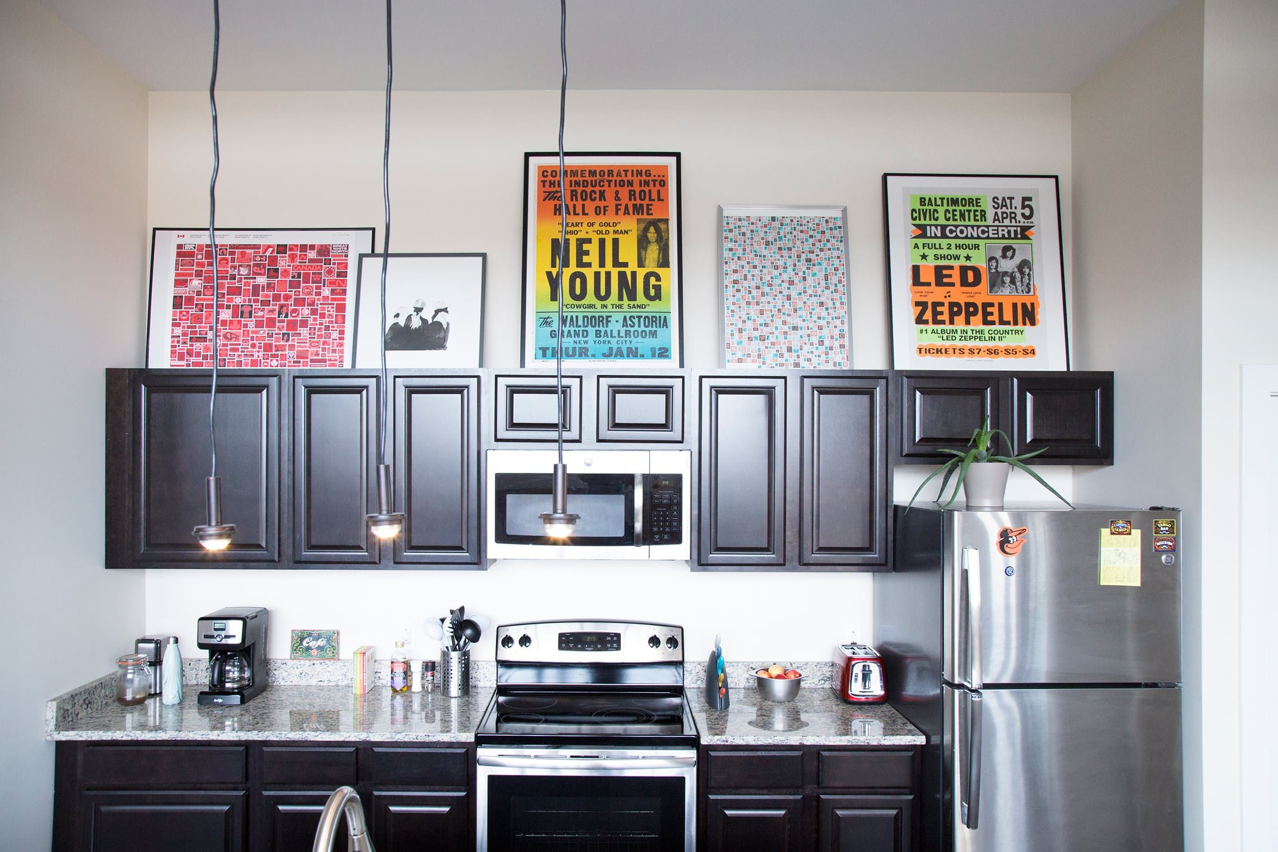 An Artistic Industrial Live Work Loft In South Baltimore Above Kitchen Cabinets Kitchen Cabinet Styles Trendy Home Decor