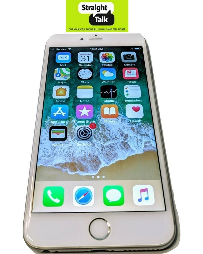 Apple iPhone 6+ Plus 128GB White / Silver Straight Talk