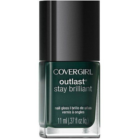 CoverGirl Outlast Stay Brilliant Nail Gloss, 287 Give'em the Greenlight, 0.37 fl oz
