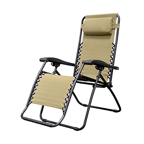 Caravan Sports Infinity Zero Gravity Chair Beige Zero