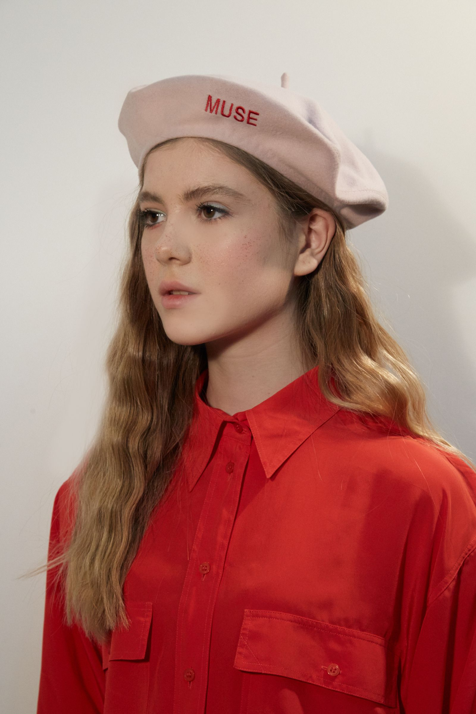 676ca9d5 Pink cashmere beret with red MUSE embroidery, pastel pink beret,  embroidered beret, embroidery beret, pink wool beret, girly beret,berets  for women, ...