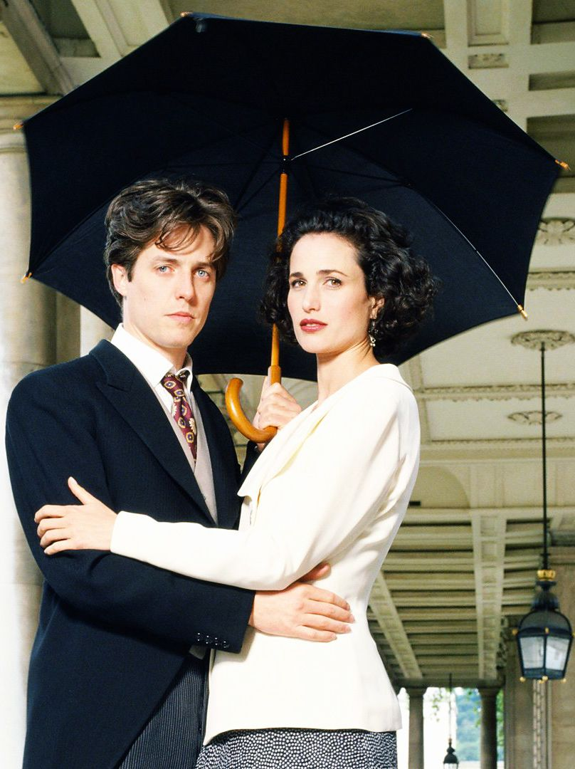 Hugh Grant And Andie MacDowell In Four Weddings A Funeral 1994