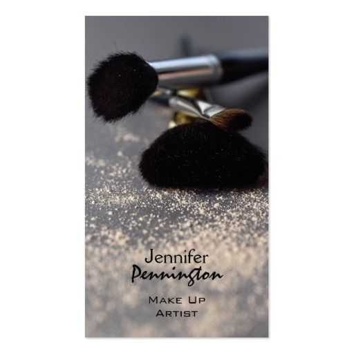 Customizable Stylish Make Up Artist Business Card Cartes De Visite Maquillage Carte Noire