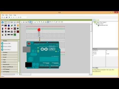 Great breadboard circuit and Arduino simulator Virtual