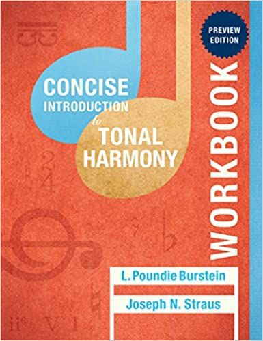 Concise Introduction to Tonal Harmony by Poundie Burstein ...