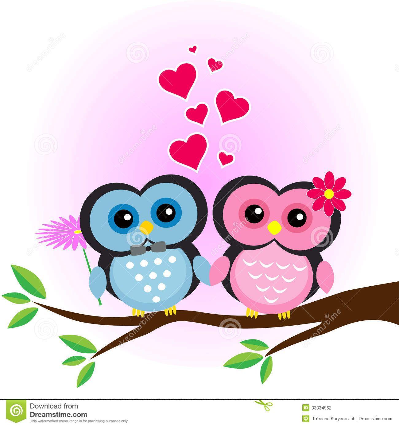 Buhos amor | Buhos cute | Pinterest | Amor y Animales