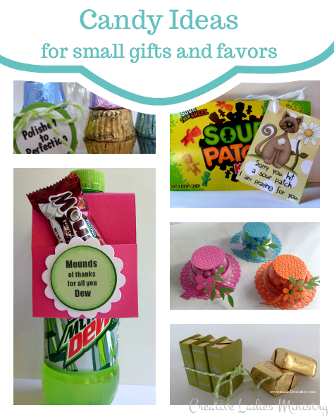 Candy favors and small gift ideas creative ladies Ideas for womens christmas gifts under 25