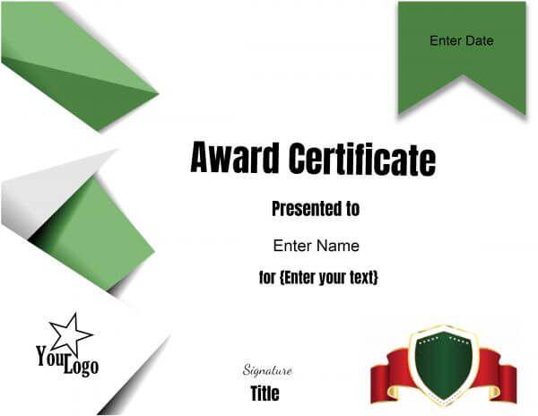 green border download pinterest free certificate templates