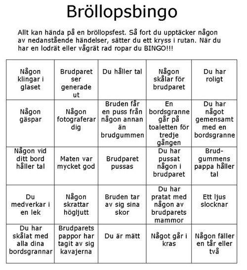 Bingo 145783709 Jpg 500 547 Brollopsprogram Brollopsspel Brollopssanger
